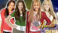 miley and hannah - hannah-montana wallpaper