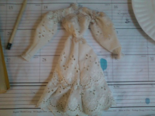 my best scaled- down dress ever. I designed it, and the style is that of 1906
