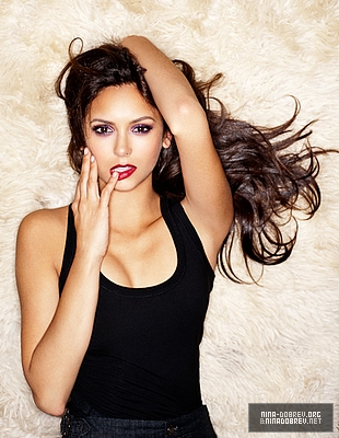 Nina Dobrev wallpaper probably containing attractiveness and a portrait titled nina