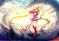 sailor mini moon and sailor moon - sailor-mini-moon-rini photo