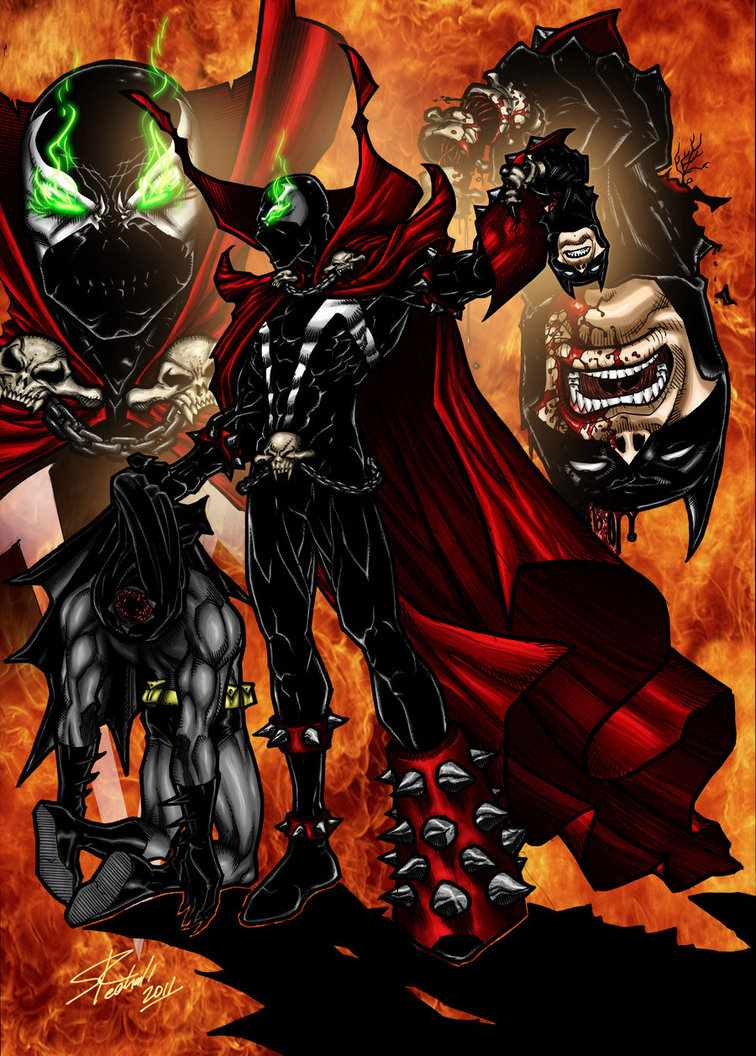 Spawn Vs Batman Images Ripping Off Batmans Head HD Wallpaper And Background Photos