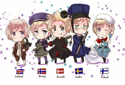 <3 Chibi Nordics <3