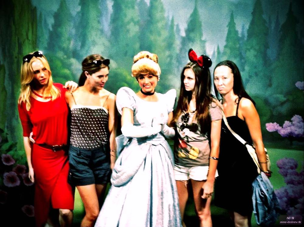 Nina Dobrev @Disney World