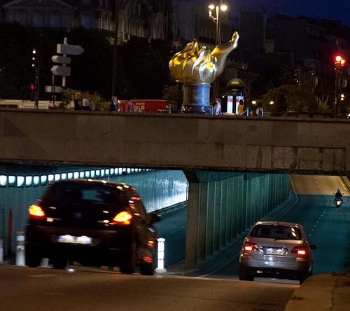 Pont de l'Alma tunnel where Diana died in a car crash in 1997