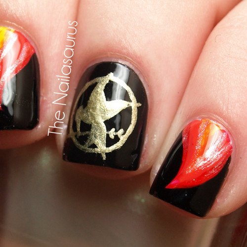 Chocolate Nails Art Game Online Nail Games: The Hunger Games Images 'The Hunger Games' Nail Art