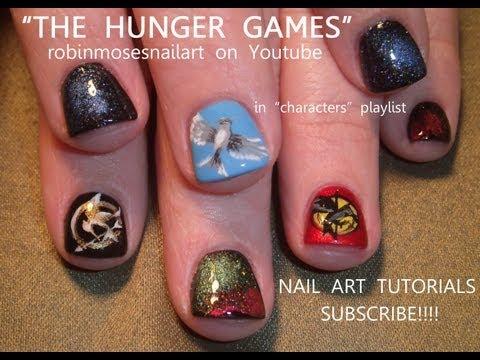 &#39;The Hunger Games&#39; nail art <3