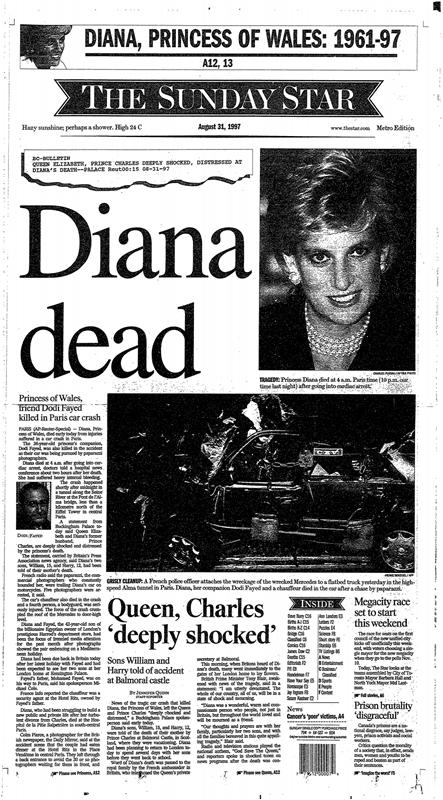the death of princess diana On 31 august 1997, princess diana died in a tragic car crash as the nation and two young princes grieved, blame was sought: was it the overzealous paparazzi a drunk driver or was the monarchy at fault.
