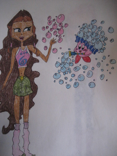 Aisha/Layla and Kirby-Bubble Kirby