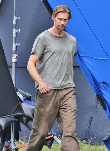 "Alex on the set of ""Hidden"""