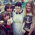 Art Parkinson, Isaac Hempstead-Wright & Aimee Richardson