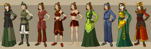 Avatar The Last Airbender kertas dinding called Avatar characters' wardrobe
