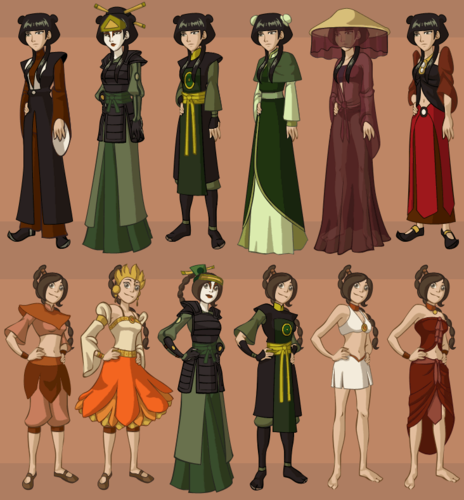 Avatar: The Last Airbender achtergrond called Avatar characters' wardrobe
