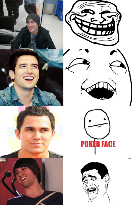 Big Time Rush BTR as memes