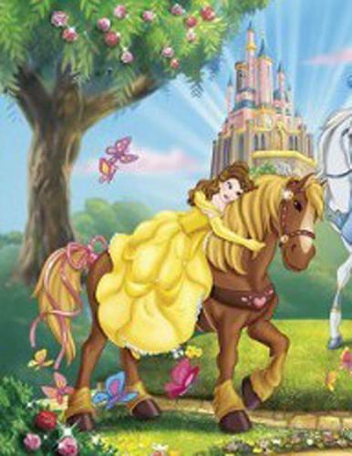 Belle Rides a Horse