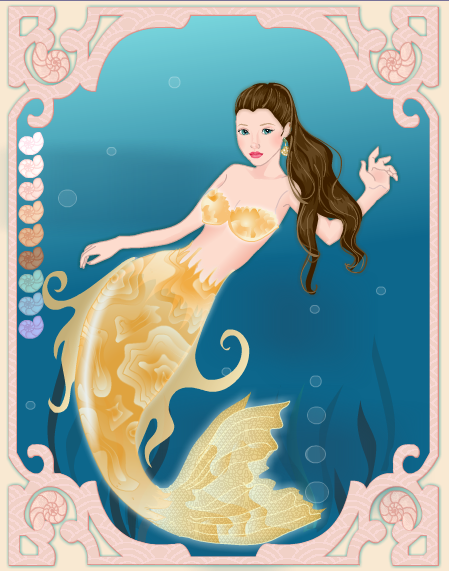 Belle as mermaid