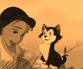 Belle & her cat Figaro