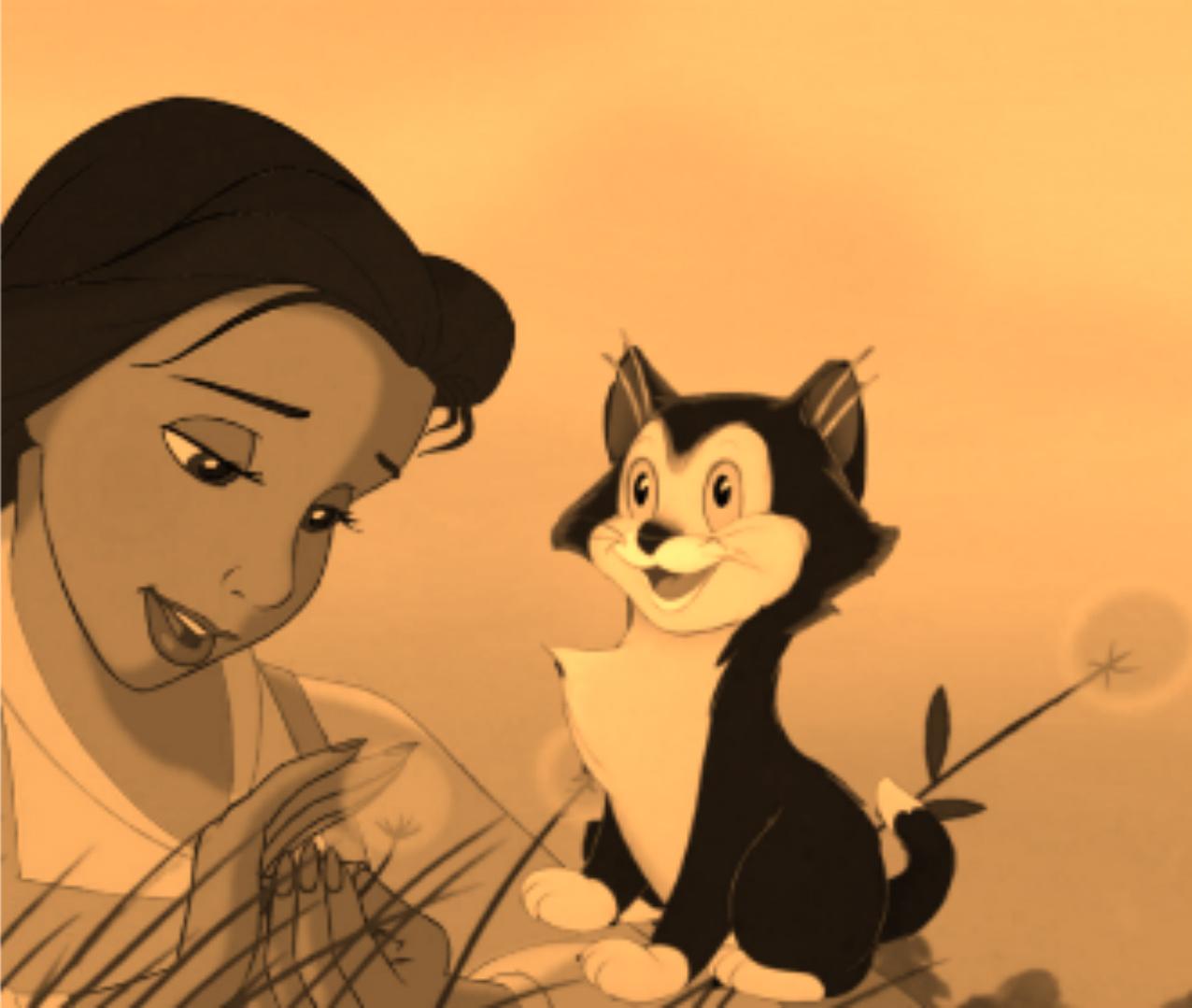 Belle & her cat Figaro