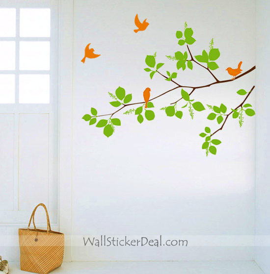 home decorating images birds with branches wall stickers wallpaper