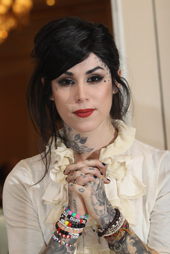 kat von d fondo de pantalla probably containing a portrait entitled Book Presentation in Berlin