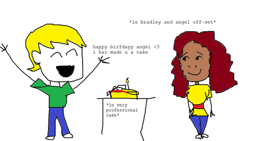 Bradley makes A Cake