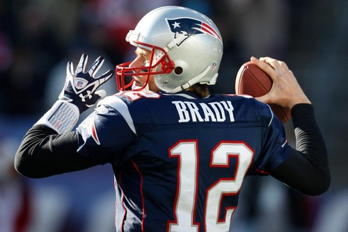 New England Patriots fond d'écran with a football casque entitled Brady FTW
