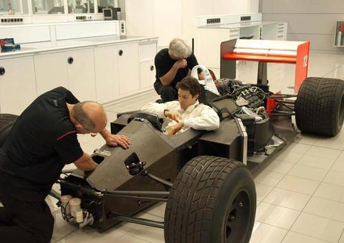 Bruno In Ayrton's MP4-4 McLaren