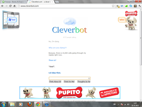 CLEVERBOT: I'm dead, and Cleverbot finds it funny