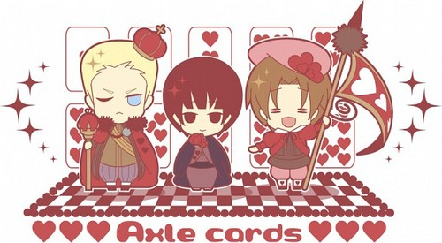 Hetalia Cardverse Chibi's (The Hearts)