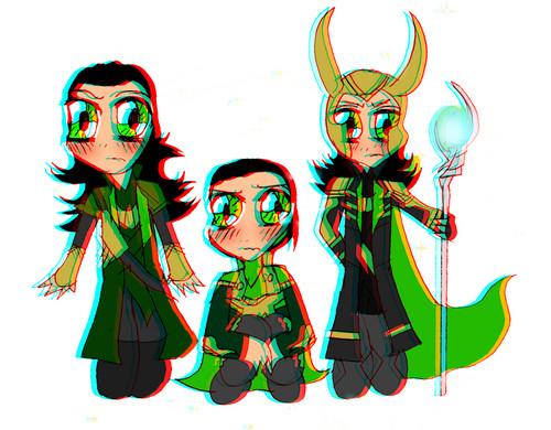 Loki (Thor 2011) wallpaper entitled chibi Loki 3D