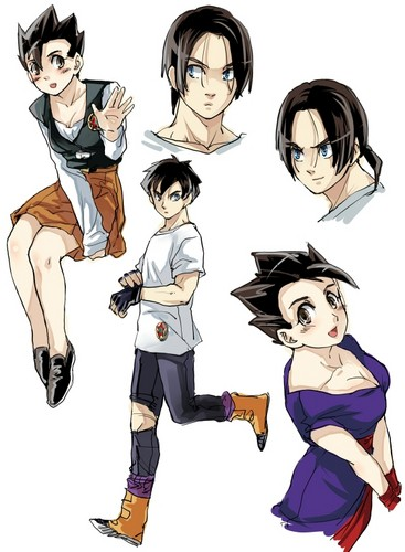 DBZ Girls and Boys (Girls r boys and vise virsa)