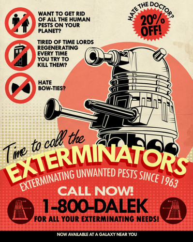 Doctor Who karatasi la kupamba ukuta possibly containing anime entitled Dalek Funnies