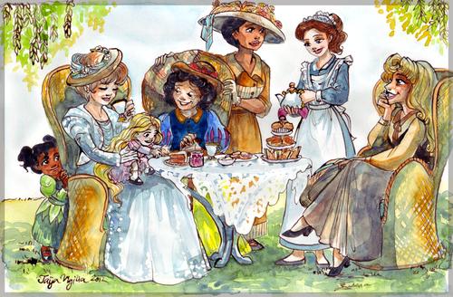 ディズニー Princess Family お茶, 紅茶 Party