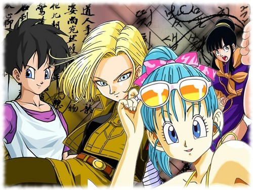 Dragon Ball Z Girls - fondo de pantalla