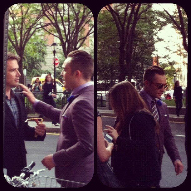 Ed and Matthew outside the Conrad Hotel