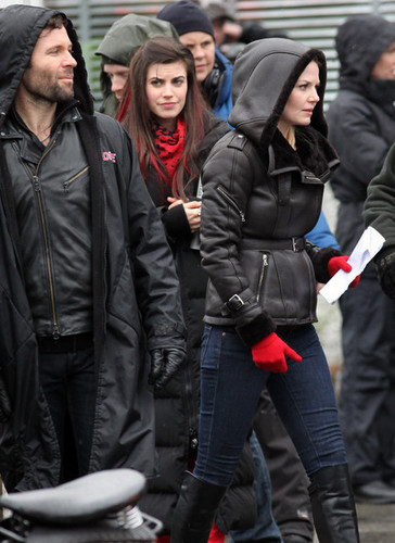 Eion on the set of Once Upon a Time