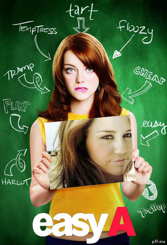 Emma stone's easy A 'n Miley