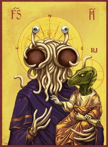 Church of the Flying Spaghetti Monster wallpaper containing anime titled F.S.M!