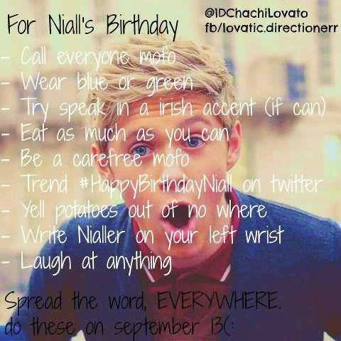 FOR NIALLS BIRTHDAY