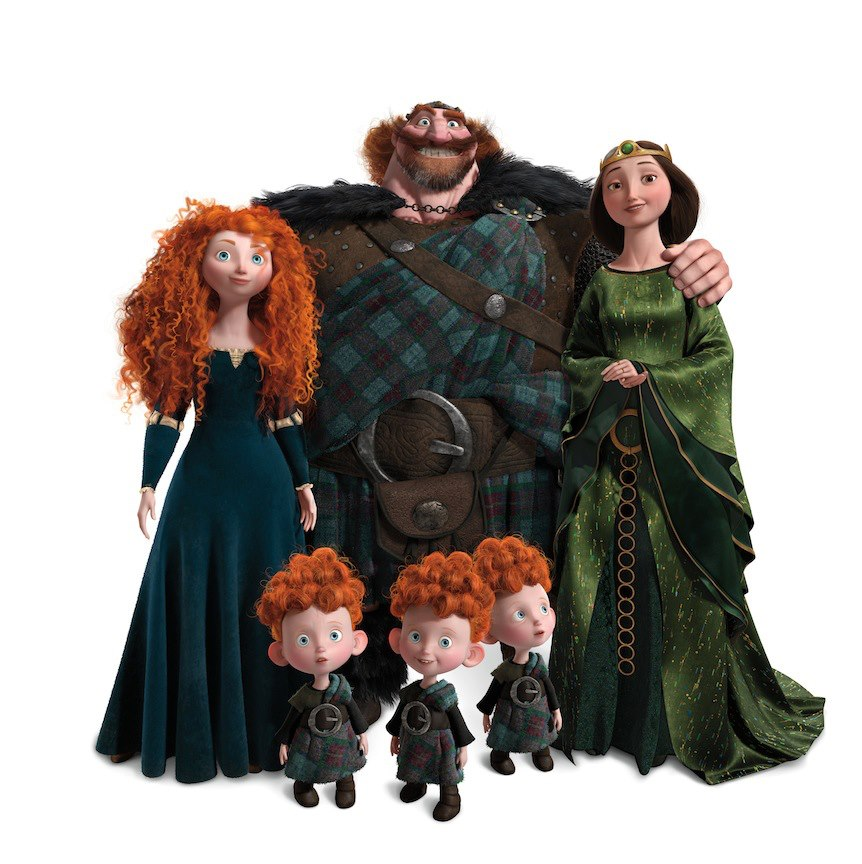 brave merida family Disney
