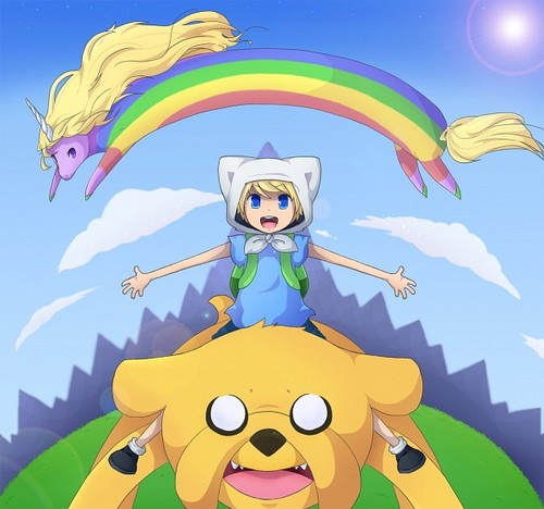 Finn, jake and lady