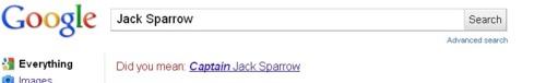 গুগুল Respect for CAPTAIN Jack Sparrow!
