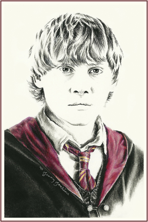 Harry Potter cast drawings sejak Jenny Jenkins