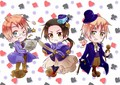 hetalia - axis powers Cardverse Chibi's (The Spades)