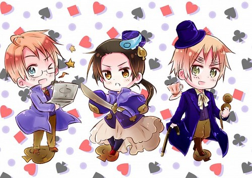 Hetalia Cardverse Chibi's (The Spades)  - hetalia Photo