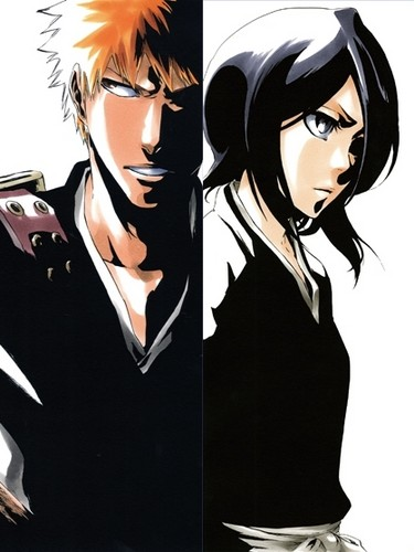 Ichigo & Rukia - Sun & Moon - images IchiRuki wallpaper ...