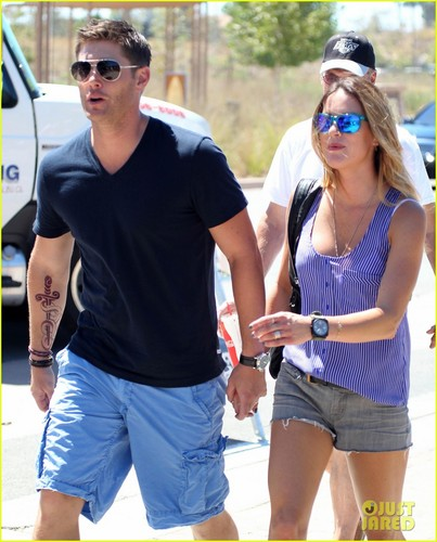 Jensen Ackles Malibu Chili Cook Off with Danneel