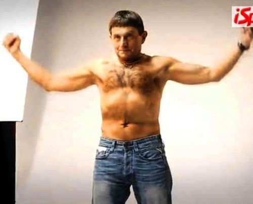 Josef Vana showed muscles !!
