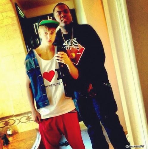 Justin Bieber, Sean Kingston, instagram.2012