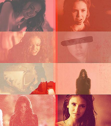 Katherine Pierce in Red