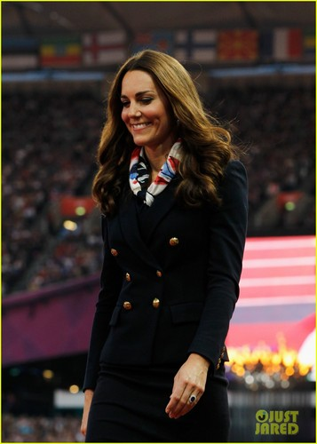 Kate watching the 2012 Paralympic Games
